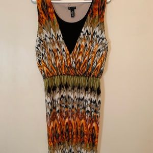 New directions multi color sleeveless long dress